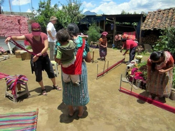 The Weaving Workshop in Xecam, Guatemala. Tyrel Nelson photos.