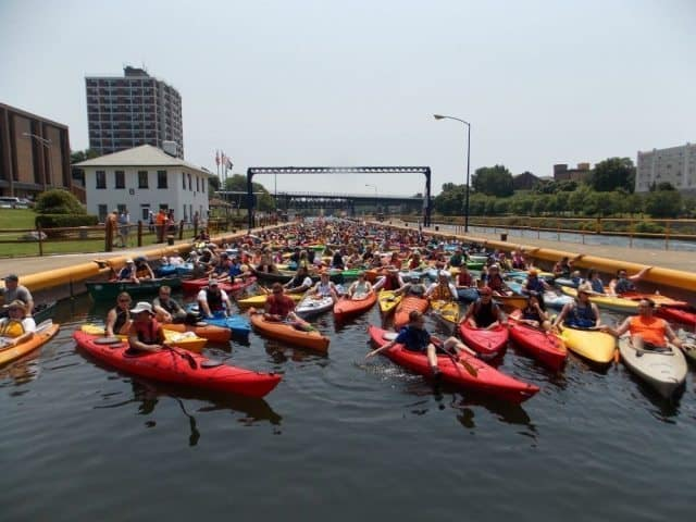 This years third annual Oswego Paddle Fest happened in July where people of all ages can paddle down the river in Oswego and enjoy its beauty and history together.