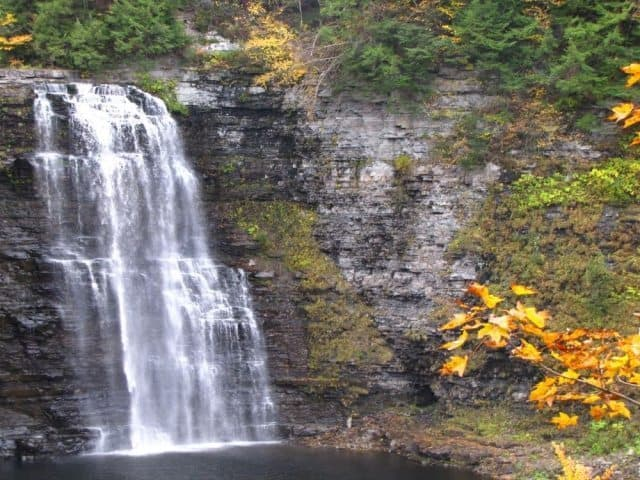 The Salmon River Falls on the Salmon River in Oswego.