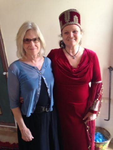 Author Ann Banks with Sibel Gul at the Doll House museum in Cappadocia, Turkey.