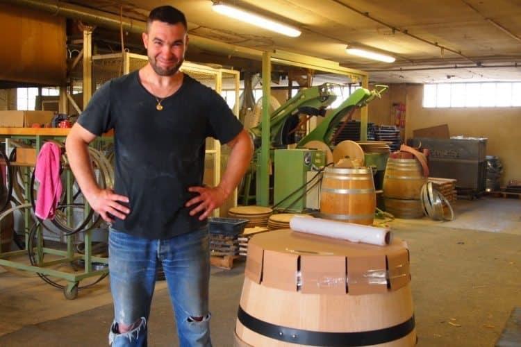 A barrel maker in Menetou-Salon, Loire Valley France.