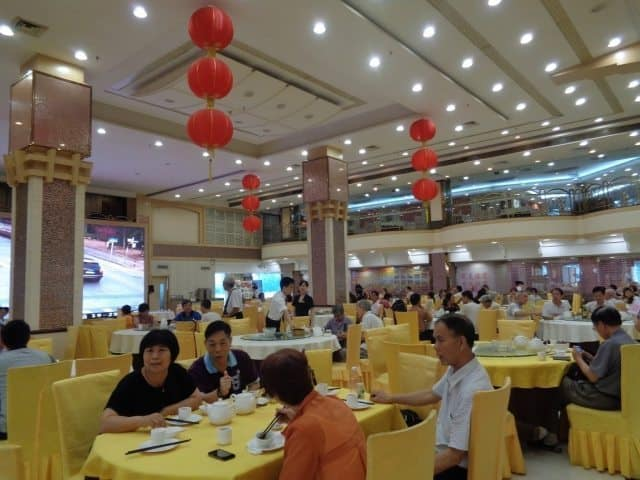The breakfast hall at Wan Hao Hotel, Foshan. Diners awaiting their breakfast. Sophie Deal photos.
