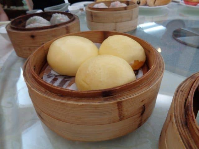 Baozi, cream custard buns.