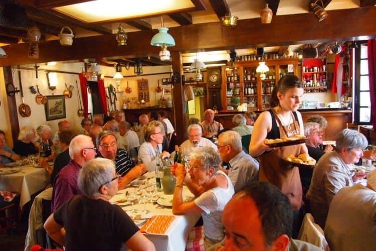 "Inside the busy C'heu l""Zib restaurant in Menetou-Salon."