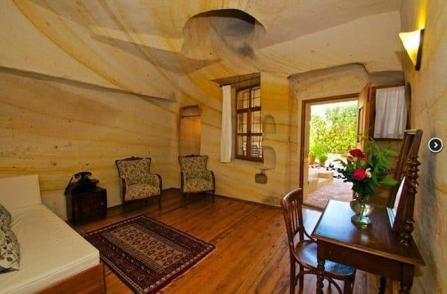 A cave room at the Esbeill Evi hotel in Urgup, Cappadocia, Turkey.