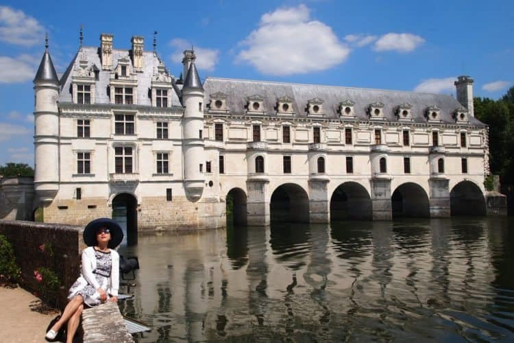 Chenonceau, the Castle with the bridge, a famous place in France's Loire Valley. Max Hartshorne photos.