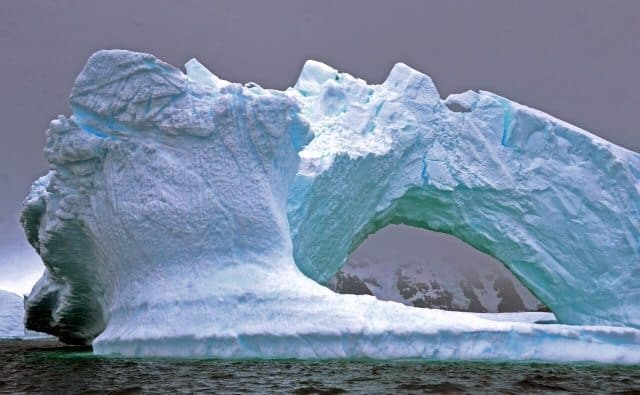 Ice formations on the Antarctic Peninsula