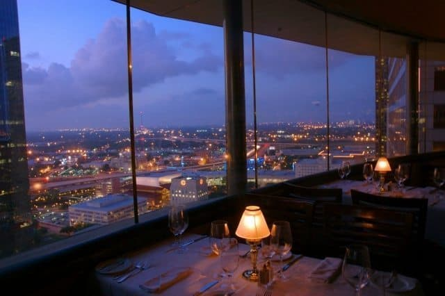 The revolving restaurant, set atop downtown's Hyatt Regency Houston hotel, has impressed diners with unobstructed, 360-degree views of the city. Greater Houston Convention and Visitors Bureau Photos.