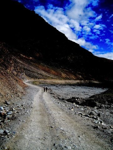 Along the Manali Leh highway.
