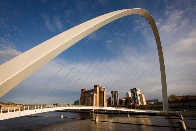 Gateshead Millenium Bridge in Newcastle.