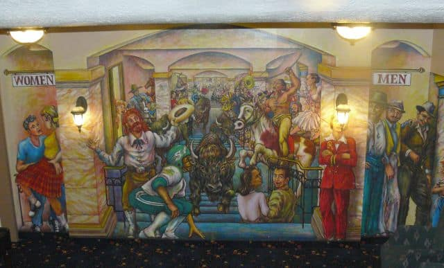 A mural at the newly-restored Roxy Theatre in Riversdale.