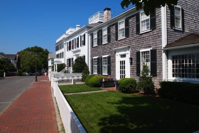 Edgartown's beautiful North Water Street, where whaling ship owners once lived.