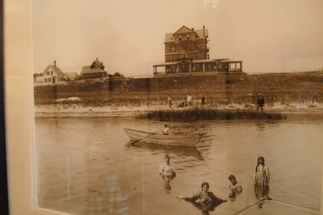 Swimming at the old Harbor View in the 1900s.l