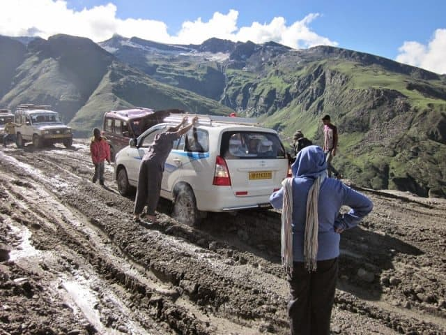 Traveling a rough road: with the Pir Panjal range in lower himalayas. Manjusha Gupte photos.