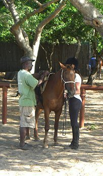 Saddling up in Mozambique.