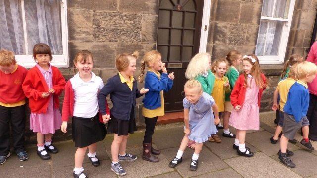 Schoolkids in rothbury