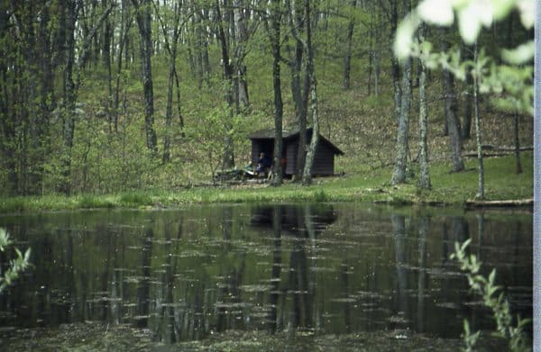 An Appalachian Trail Shelter in Virginia.