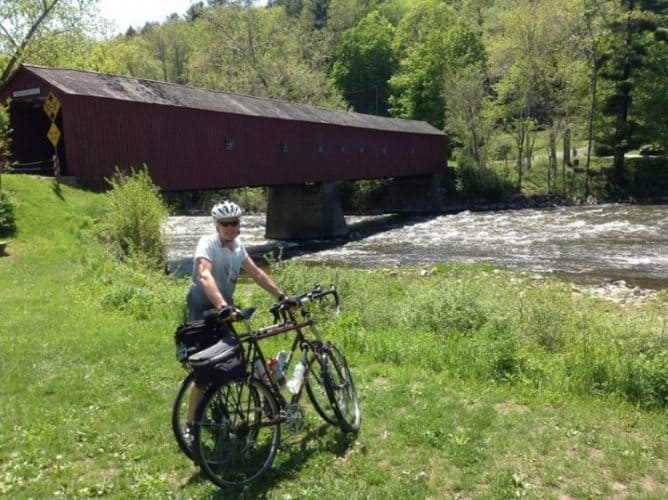 A covered bridge in Vermont