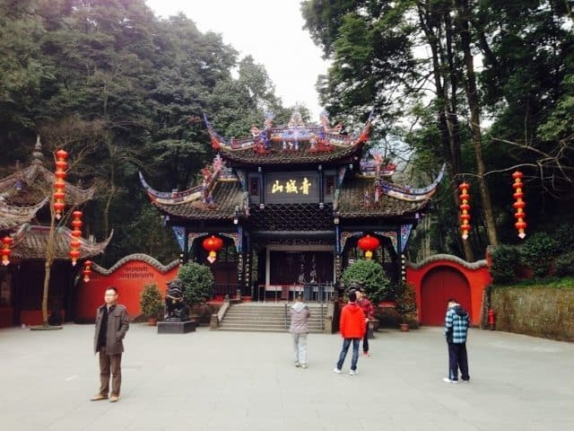 The city of Chengdu is home to many temples and beautiful structures.
