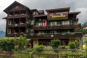 Hotel Edelweiss, in the Swiss Alps