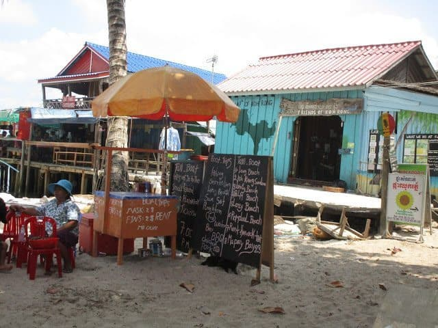 A snack stand on the Island.