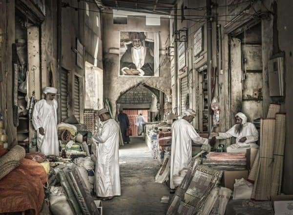 Oman Nizwa artists drawing of souq Photo Credit Ahmed Al Toqi
