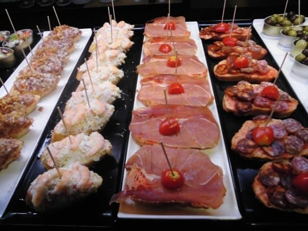 Tapas selection
