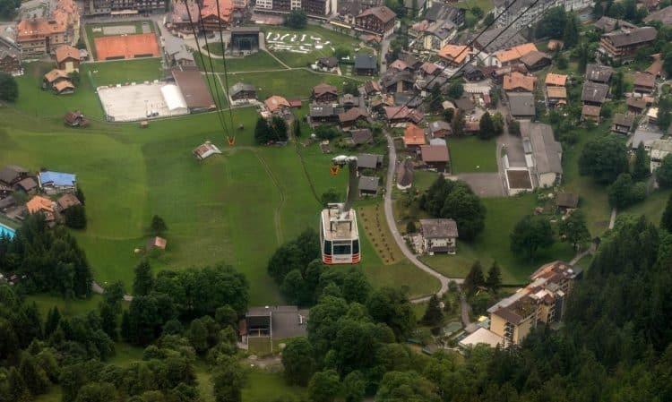 View From Wengen Mannlichen Aerial Cableway. Ron Ellege photos.