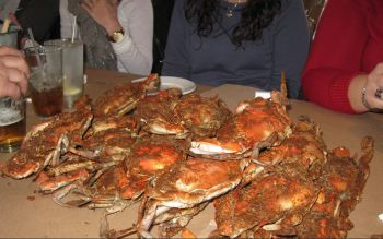Bo brooks crab feast in Baltimore.
