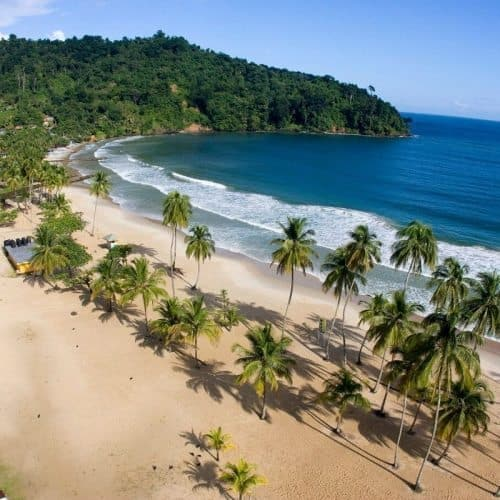 Maracas Beach on Trinidad.