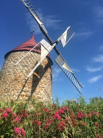 A windmill in Charlevoix, Quebec.