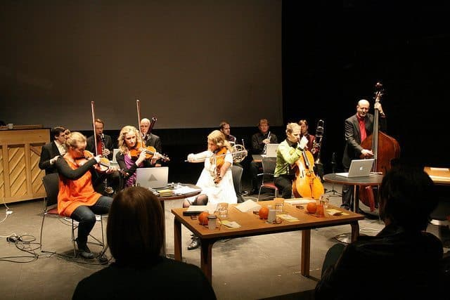 Contemporary music making with members of Reykjavik Chamber Orchestra, Reykjavik Children's Festival.