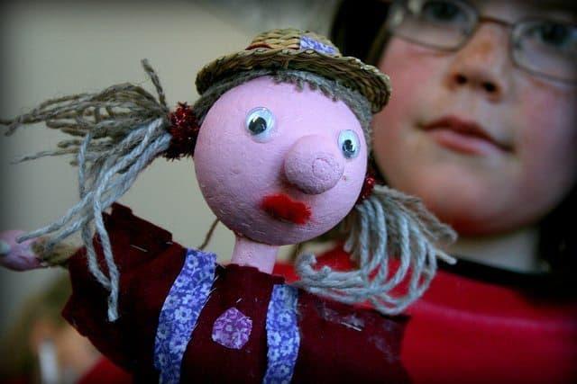 Puppets made at Reykjavik Children's Festival.