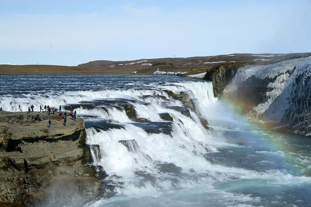 Gullfoss Waterfall in Iceland. Stuart Wickes, The Family Adventure Project Photos.
