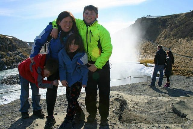 Family Adventure Project at Gullfoss, Iceland.
