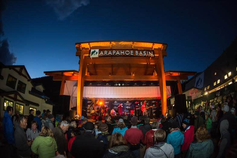 Dave Camara captures a show at the new Arapahoe Basin Ski Area Stage, photo by Dave Camara.