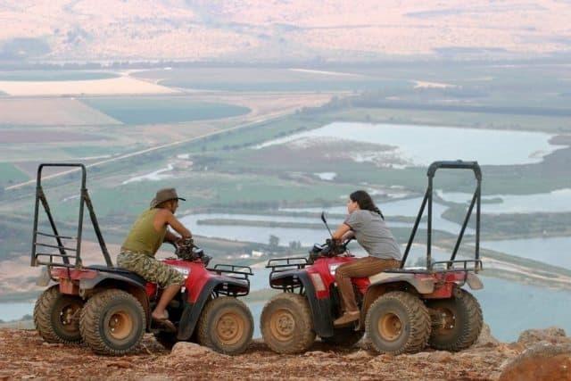 ATV riders in the upper Galilee. Dishon ATV Photos.