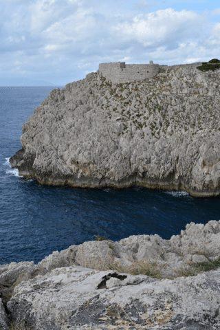 Fortress Ruins along the coast.
