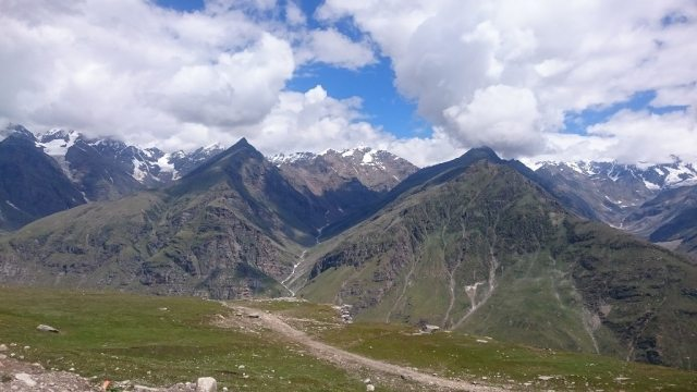 The view near the tremendous Rohtang Pass.