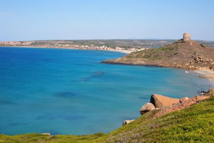 Sinis Peninsula, where a marine protected area preserves the pristine natural areas on Sardinia's west coast.