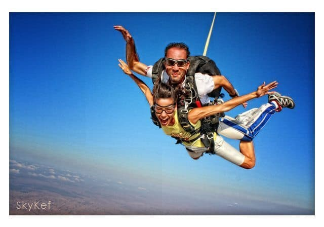 Skydiving over the Negev Desert. Skykef Photos.