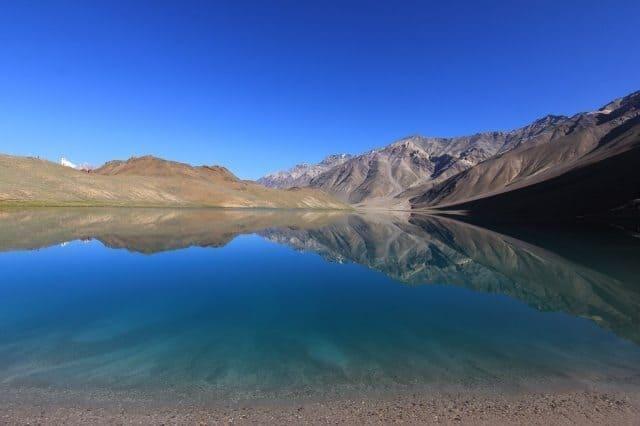 The gorgeous Chandratal Lake in the Lahaul region of Himachal Pradesh, India. Mridula Dwivedi Photos.