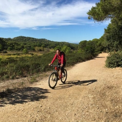 Discovering the island of Porquerolles by bike.