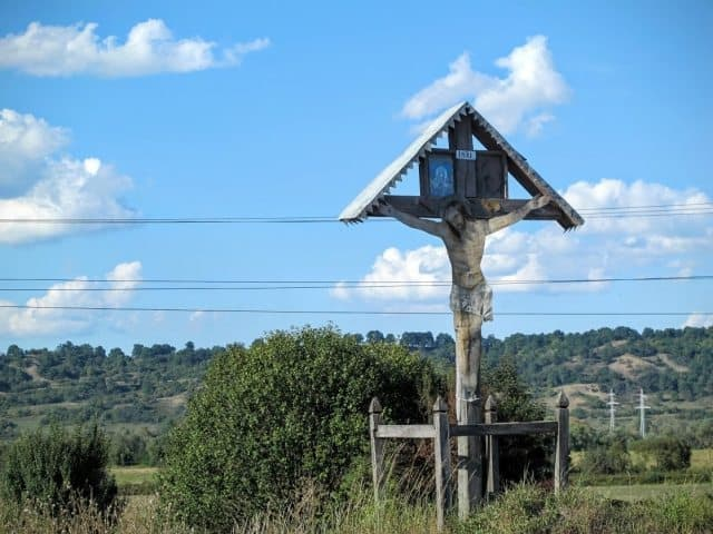 Many villages in Transylvania have small shrines like this one built on the outskirts.