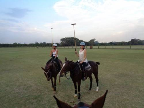 Put your polo skills to the test with Guide Charlene in one of her exciting polo classes in Buenos Aires.