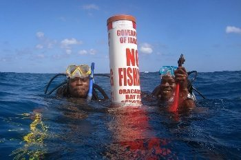 Locals are proud of their new marker keeping fishermen away from the reef.