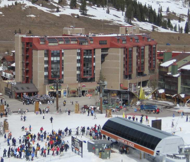 Mountain Plaza is located right near the American Eagle lift, photo by Ski Colorado