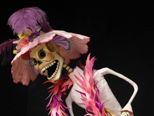 One of the many Catrina figures at Museo de Arte Popular, The Popular Art Museum.