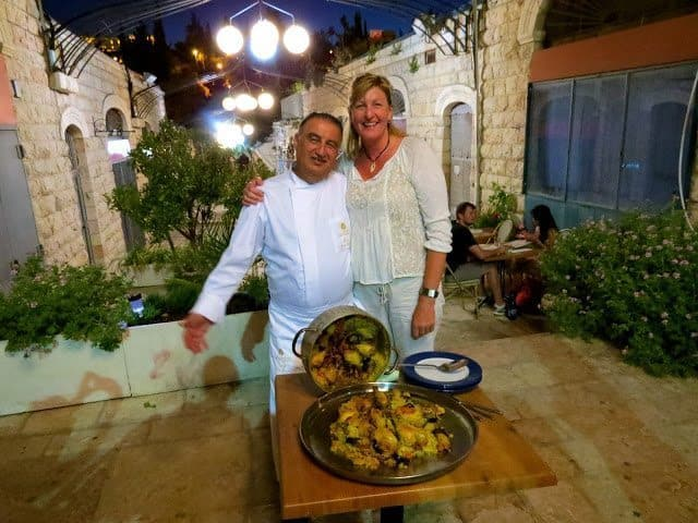Myself and Chef Moshe from The Eucalyptus Restaurant in Jerusalem.
