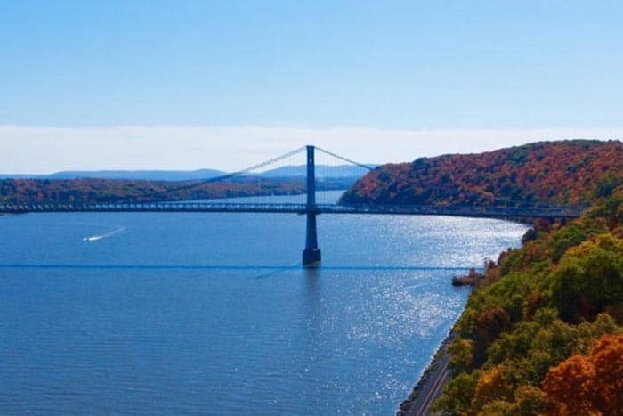 Mid Hudson Bridge, near the Buttermilk Falls Inn and Spa in NY state. Shelley Rotner photos.